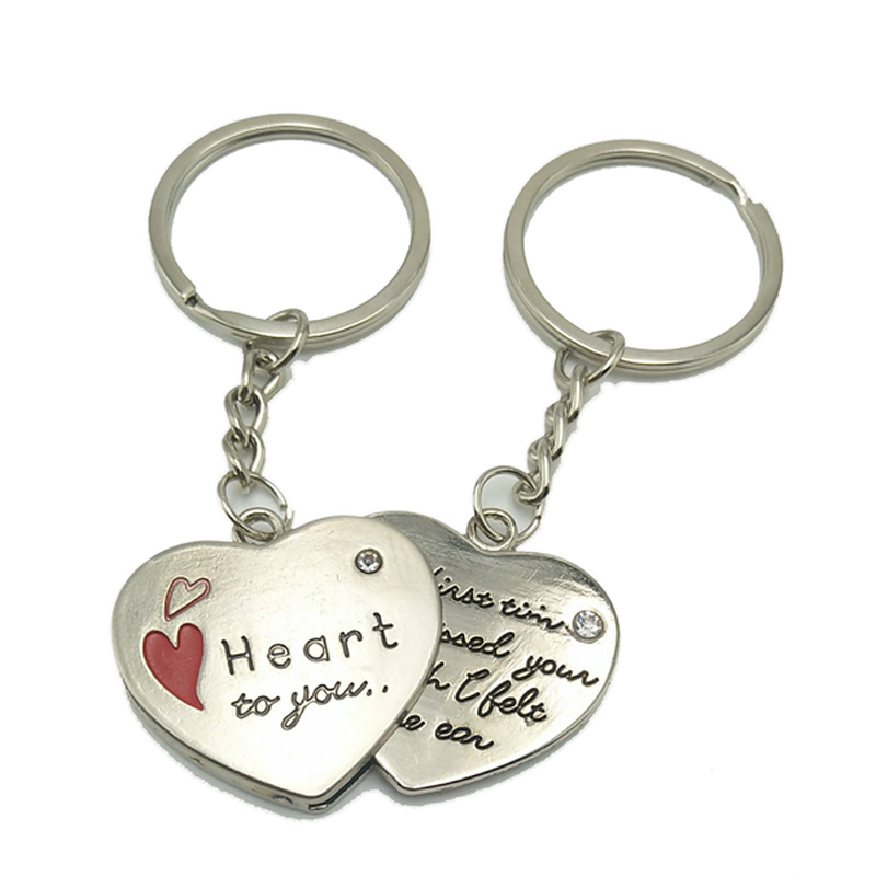 Hot Explosion Creative Heart To You Heart-shaped Love Letter Couple Key Ring Valentines Day Gift