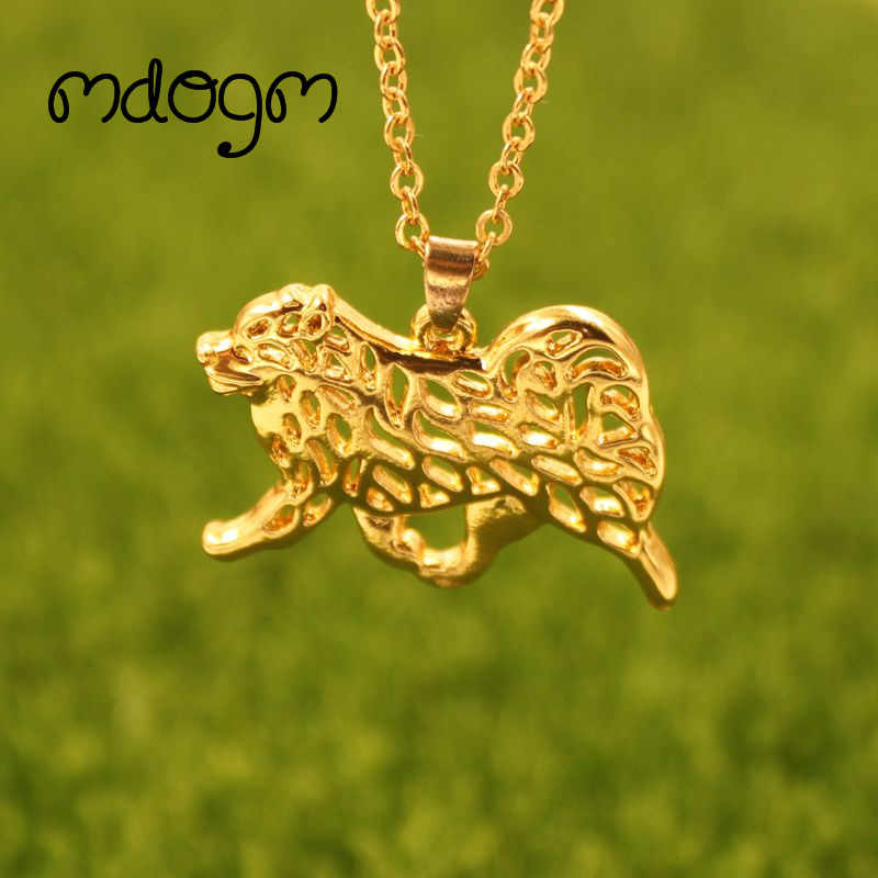 2019 Finnish Lapphund  Necklace Dog Animal Pendant Gold Silver Plated Jewelry For Women Male Female Girls Ladies Kids Boys N151