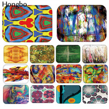 Hongbo 40*60cm Kaleidoscope Pattern Anti-Slip Flannel Carpet Door Mat Doormat Outdoor Kitchen Living Room Floor Rug