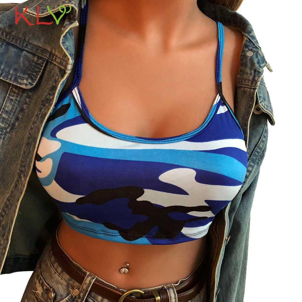 Ernte Tank Top Frauen Sexy Camouflage Sommer Fitness T Shirt Weste Unterwäsche Camis Femme Mujer Chic Streetwear Plus Größe 19Feb13