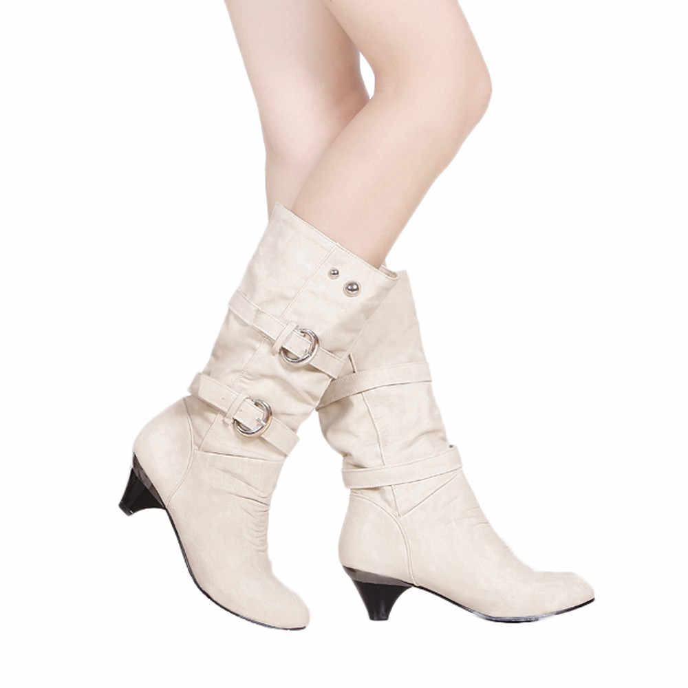 2018 Women Boots Fashion Round Head Short Boots Winter Keep Warm Lady Boot Shoes Mid-calf Non-slip Boot Shoes For Ladies