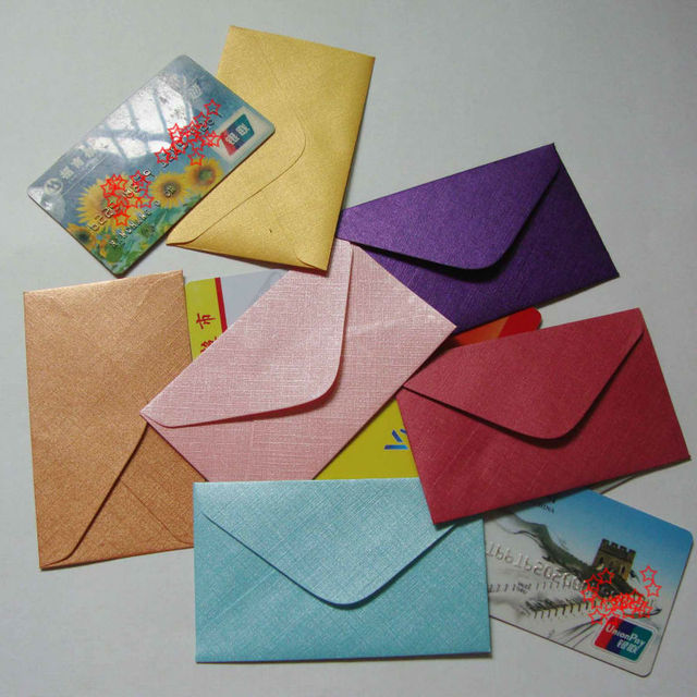 60x100mm mini envelopes small envelope vip card envelope business card envelope - Business Card Envelopes