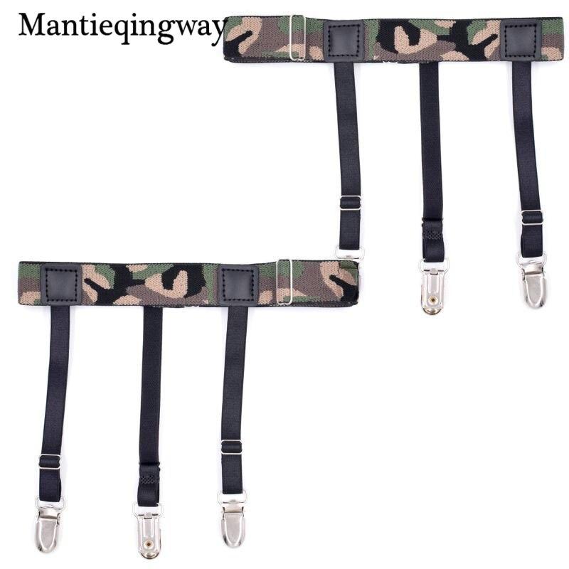 Apparel Accessories Mantieqingway Nylon Shirts Holders Suspensorio For Mens Elastic Business Garter Braces Adjustable Legs Shirts Suspenders Durable Modeling