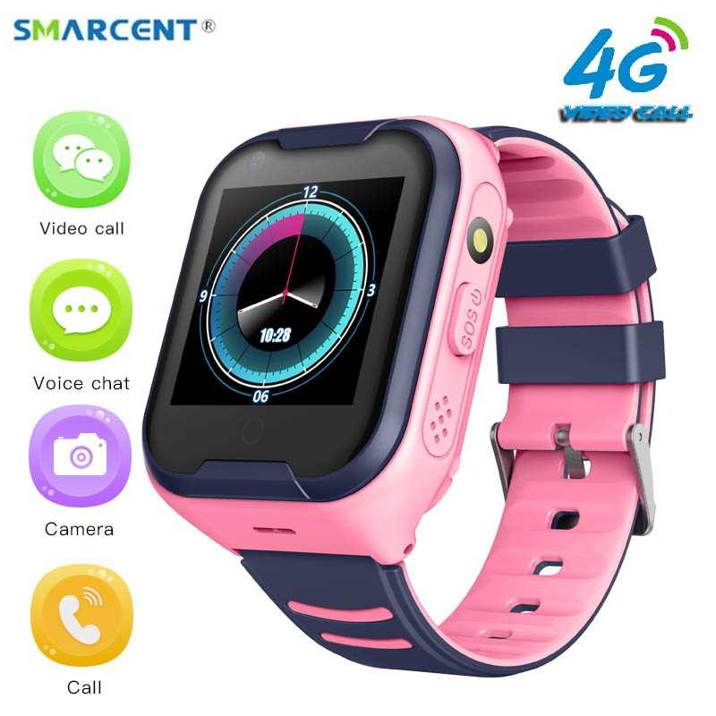 SMARCENT 4G A36E smart kids watch waterproof IPX7 Wifi GPS Video call Monitor Tracker clock Students Wristwatch kids children