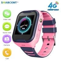 SMARCENT 4G A36E smart kids watch waterproof IPX7 Wifi GPS Video call Monitor Tracker clock Students Wristwatch kids children