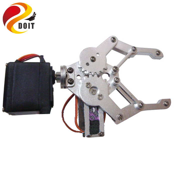 DOIT 2 DOF Aluminium Robot Arm Clamp Claw Mount Kit+ Servo for Robotic Manipulator DIY RC Toy Remote Control
