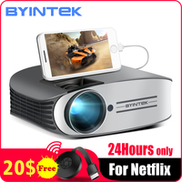 BYINTEK Brand MOON M7 200inch Home Theater HD Video lAsEr LED Projector for Iphone Smart Android Mobile Phone Full HD 1080P