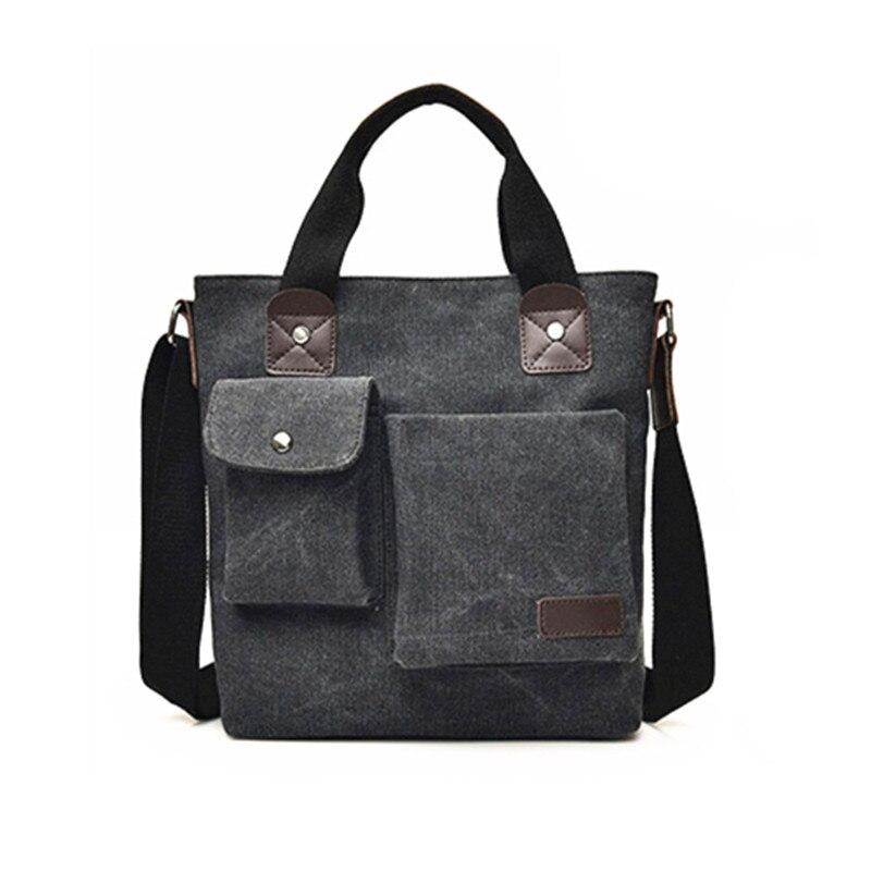 7f1a20b35740 FANKE POLO Fashion Business Handbags Canvas Casual Zipper Messenger Bags  Male Vintage High Quality Crossbody Bag Travel Bags