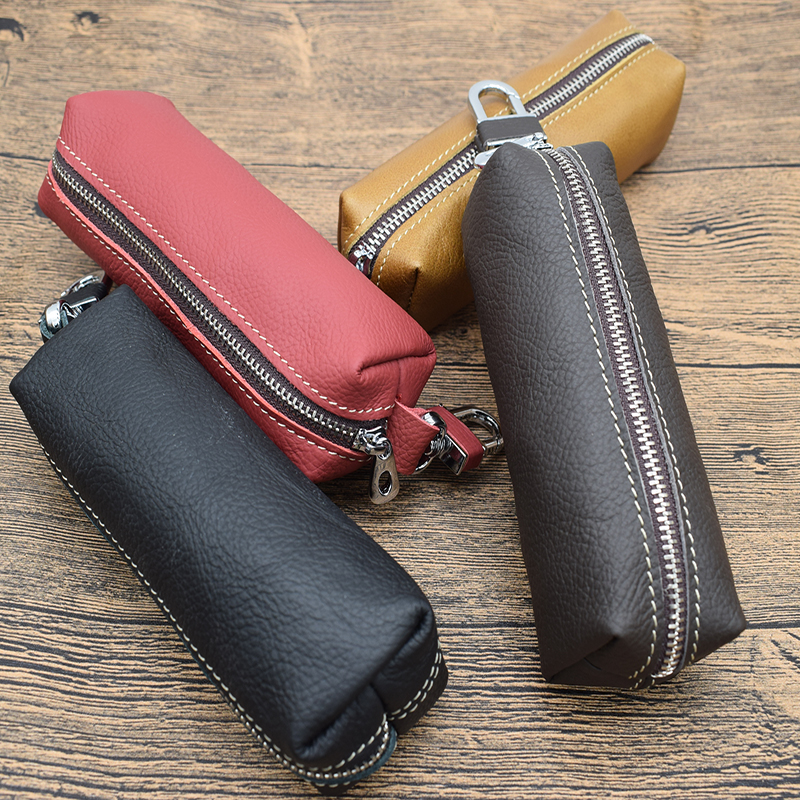 Hot sale car keys holder genuine leather coin purse for men Key Wallets Women housekeeper plus