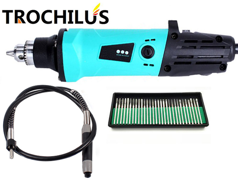 Trochilus  new typs  380W High Quality Grinder Variable Speed Grinder Drilling Cut Carving Polishing Mini Tool Kit 1pc white or green polishing paste wax polishing compounds for high lustre finishing on steels hard metals durale quality