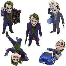 El caballero oscuro Joker 5 unids/set PVC figura de acción juguete de modelos coleccionables 6 ~ 10cm KT2467