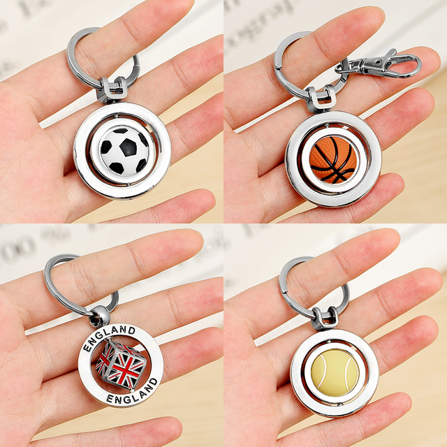 Football keychain Gits For Men Basketball Car Key chain Key Ring For Dad Boyfriend gift Couple keychain Soccer Keyring For Keys