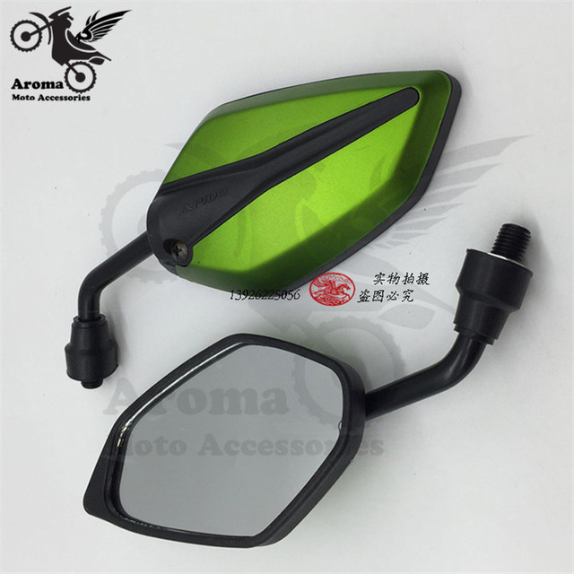 5 colors Available big size motorcycle mirrors 10mm screw universal racing motorbike rearview mirror red green blue white black