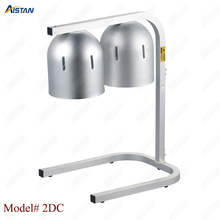 2DC counter top stainless steel food heating warming lamp light for restaurant цена и фото