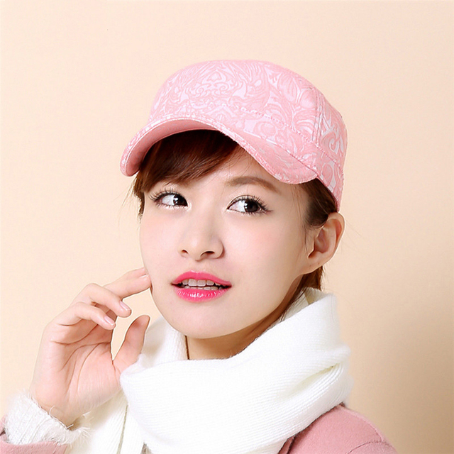 New Fashion baseball cap women Spring Summer and Autumn Flat top hat women s  and ladies Casual eddae1f86a9