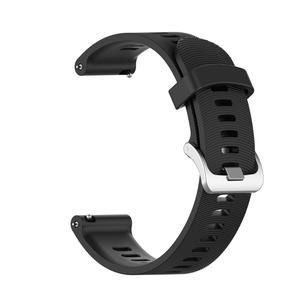 Image 3 - For Garmin 245 Strap Official Button Silicone Watch Band Sports Strap For Forerunner 245M/645/Vivoactive3/Vivomove HR Bracelet