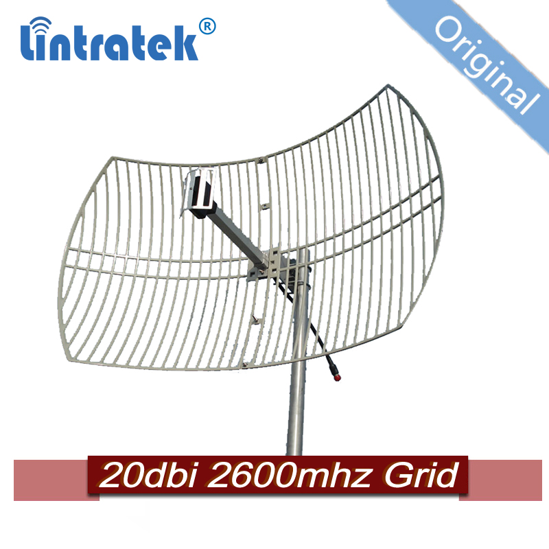 20dbi 2600mhz Outdoor Directional Parabolic Grid Antenna For 4g Data Internet Mobile Signal Booster B7 #15