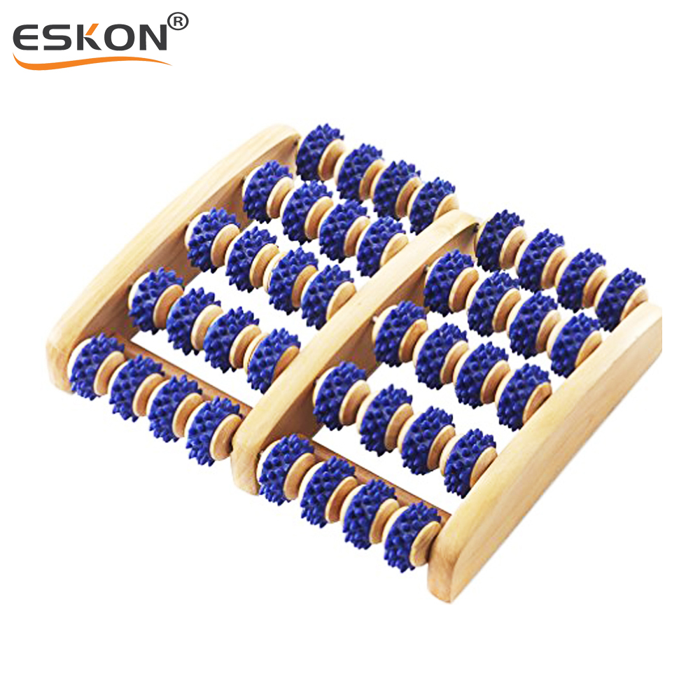 Wooden Foot Massager Amazing Massage Roller Acupressure Promote Blood Circulation Stress Relief Dual Wood Roller Massage Tool