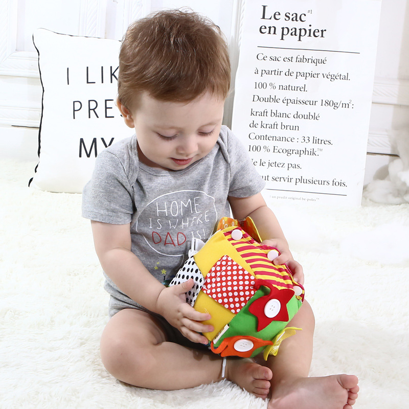 Baby Toys Baby Early Educational Learning Puzzle Toys Dress Zip Snap Button Buckle Lace Tie Preschool Teaching Aids
