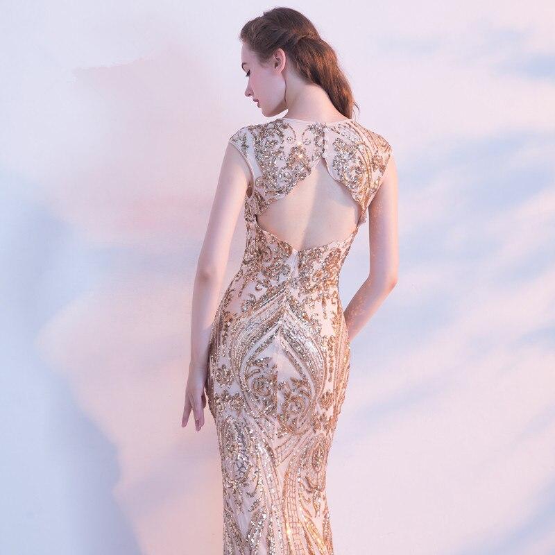 Robe De soirée robes De soirée longues 2019 paillettes sirène fête De bal la mariée robes De Banquet robes Elie Saab - 5