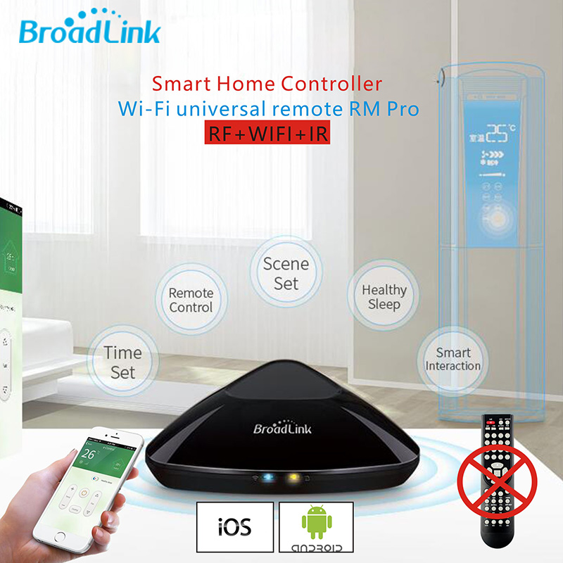 Original Broadlink RM2 Rm Pro  WIFI Smart home Universal Intelligent controller IR+RF Switch Wireless Remote Work IOS & android free shipping 2017 broadlink rm pro rm03 smart home automation wifi ir rf universal intelligent remote control switch for