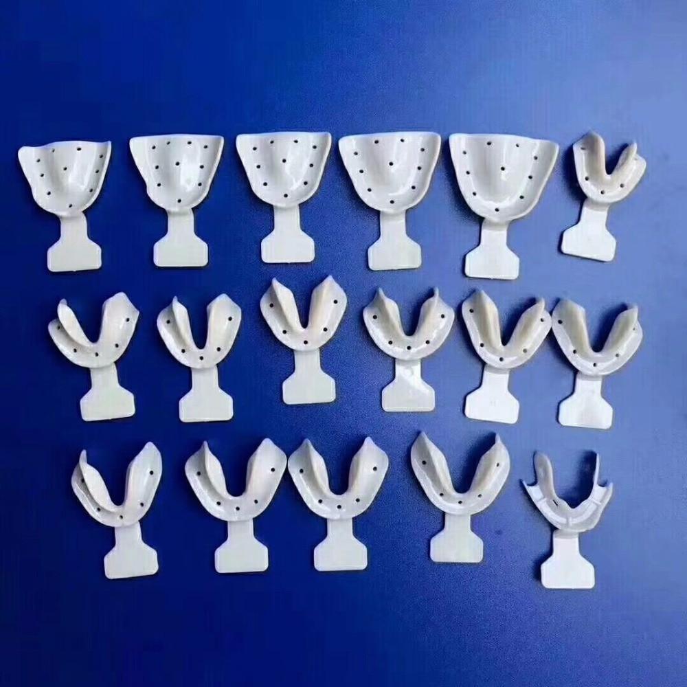 dental impression tray kit for elderly,white color 17pcs/kit,dentist dental materialdental impression tray kit for elderly,white color 17pcs/kit,dentist dental material