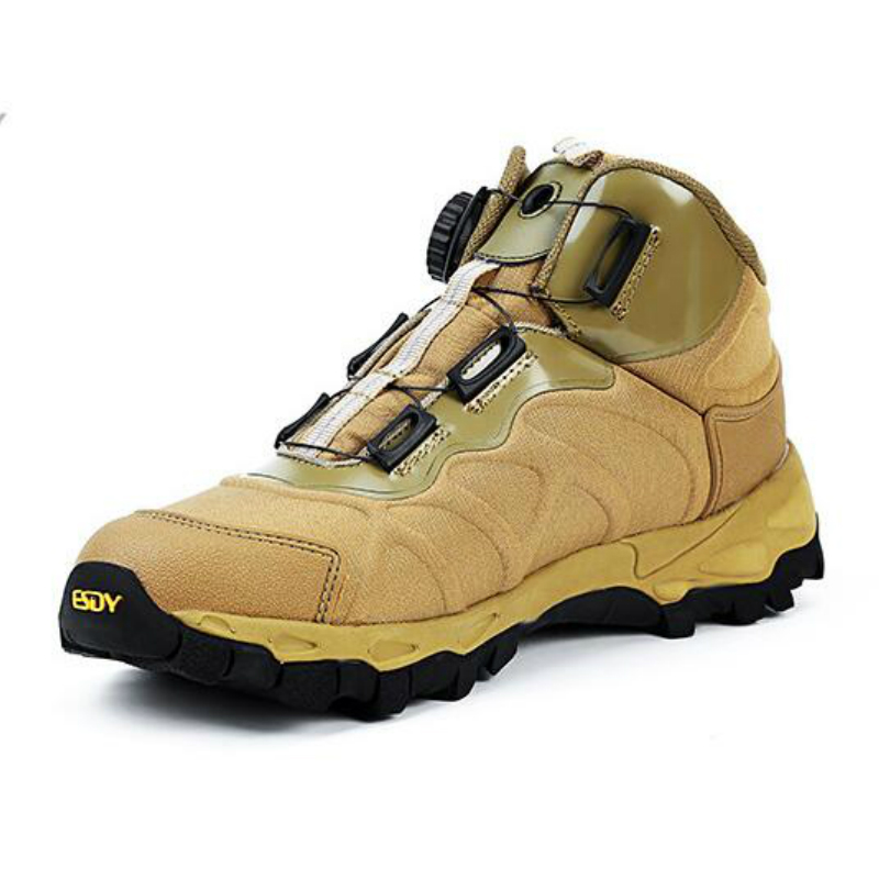 Warm Winter Mens Shoes Suede Leather Snow Boots Male Outdoor Quick Reaction Boots BOA La ...