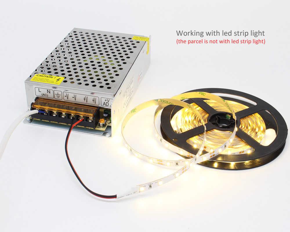 Светодиодный источник питания 12 В AC 110 В 220 В DC 5 в 12 В 24 в 36 в 48 в Светодиодная лента 12 вольт переключатель адаптер привод электронного трансформатора