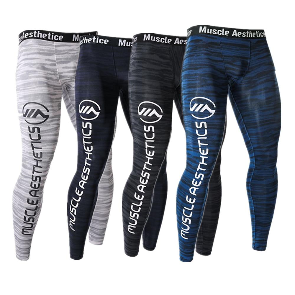 Men Running Tight Leggings Compression Dry Cool Sports Tights Pants Jogger Yoga Sports Leggings Pants