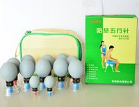12 Cups Box Massage Vacuum Cupping Set Thicker Magnetic Aspirating Cupping Cans Acupuncture Massage Suction Cup
