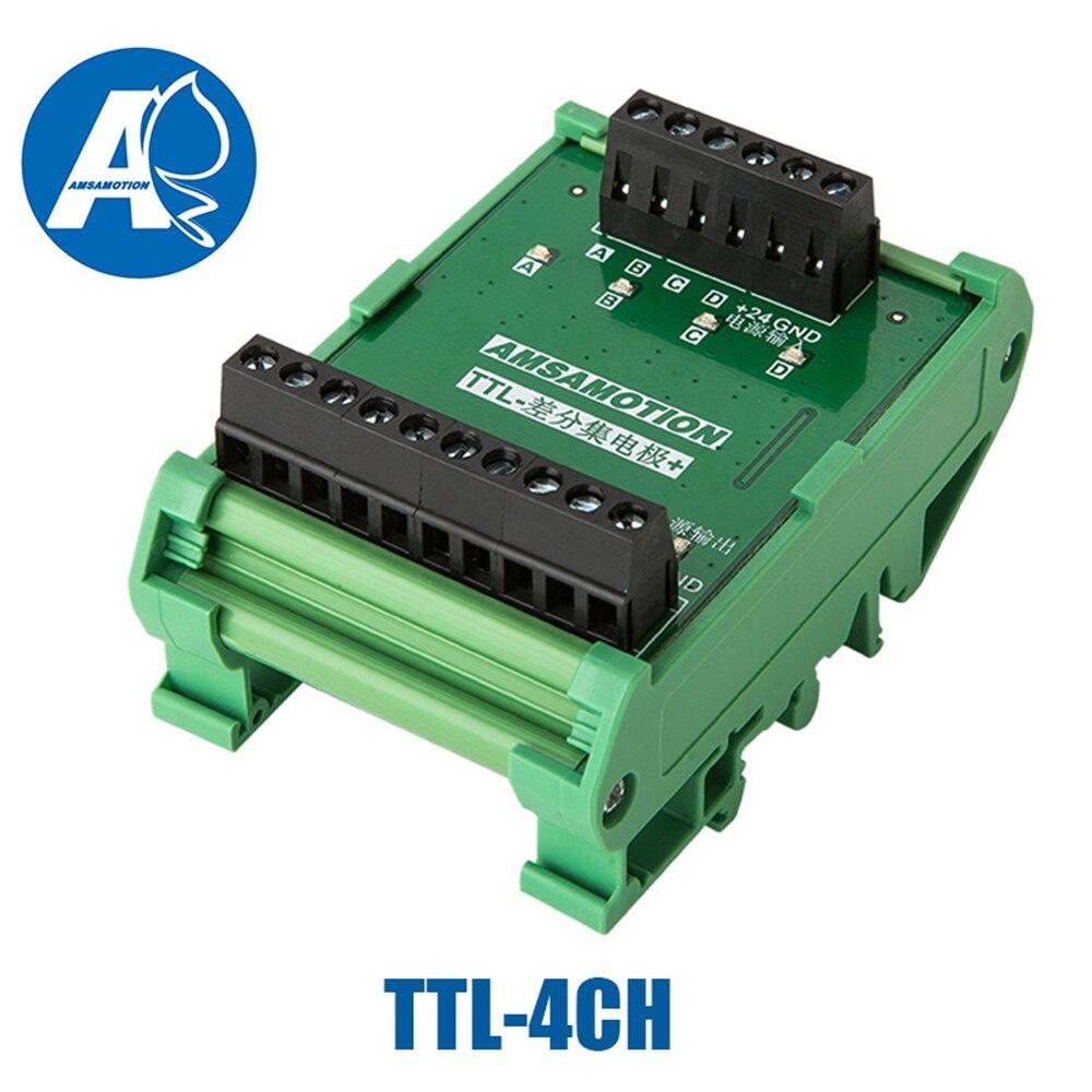 2 3 4 canaux convertisseur différentiel TTL dans le collecteur HTL signaux borniers plaque PLC NPN & PNP TTL-2/3/4CH - 3