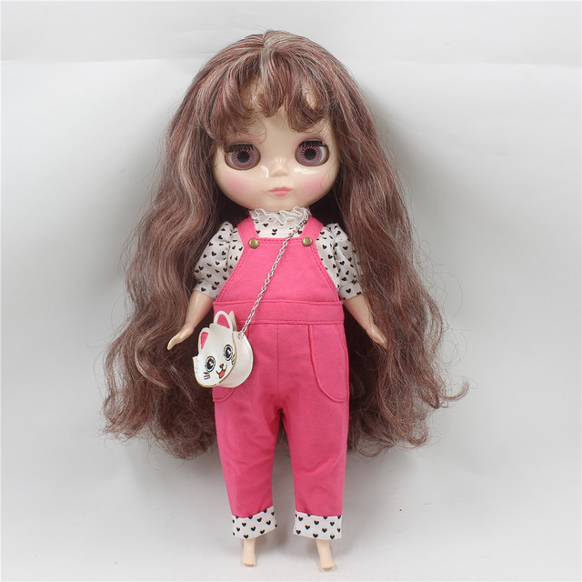 Neo Blythe Doll Fat Doll Dress With Kitty Bag