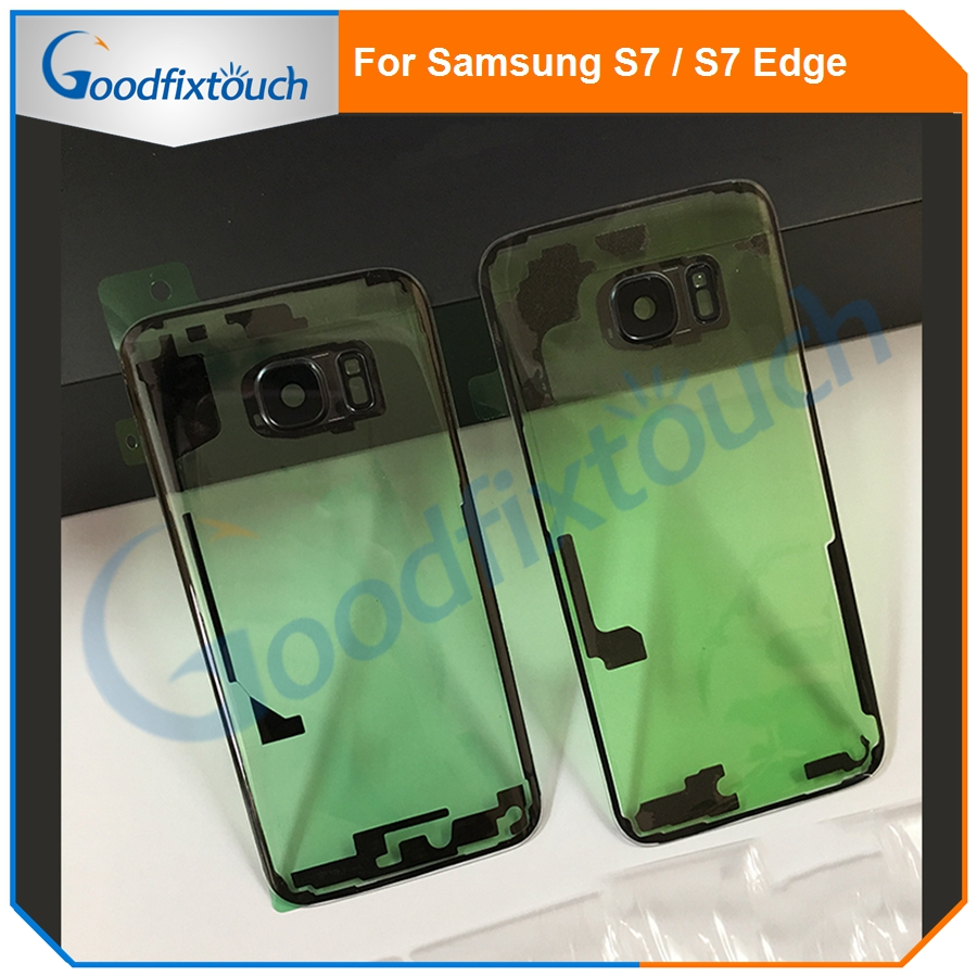 For Samsung S7 Edge S8 Plus S9 Plus G930 G935 G950 G955 G960 G965 3D Transparent Glass Back Housing Battery Cover Rear Door Case image