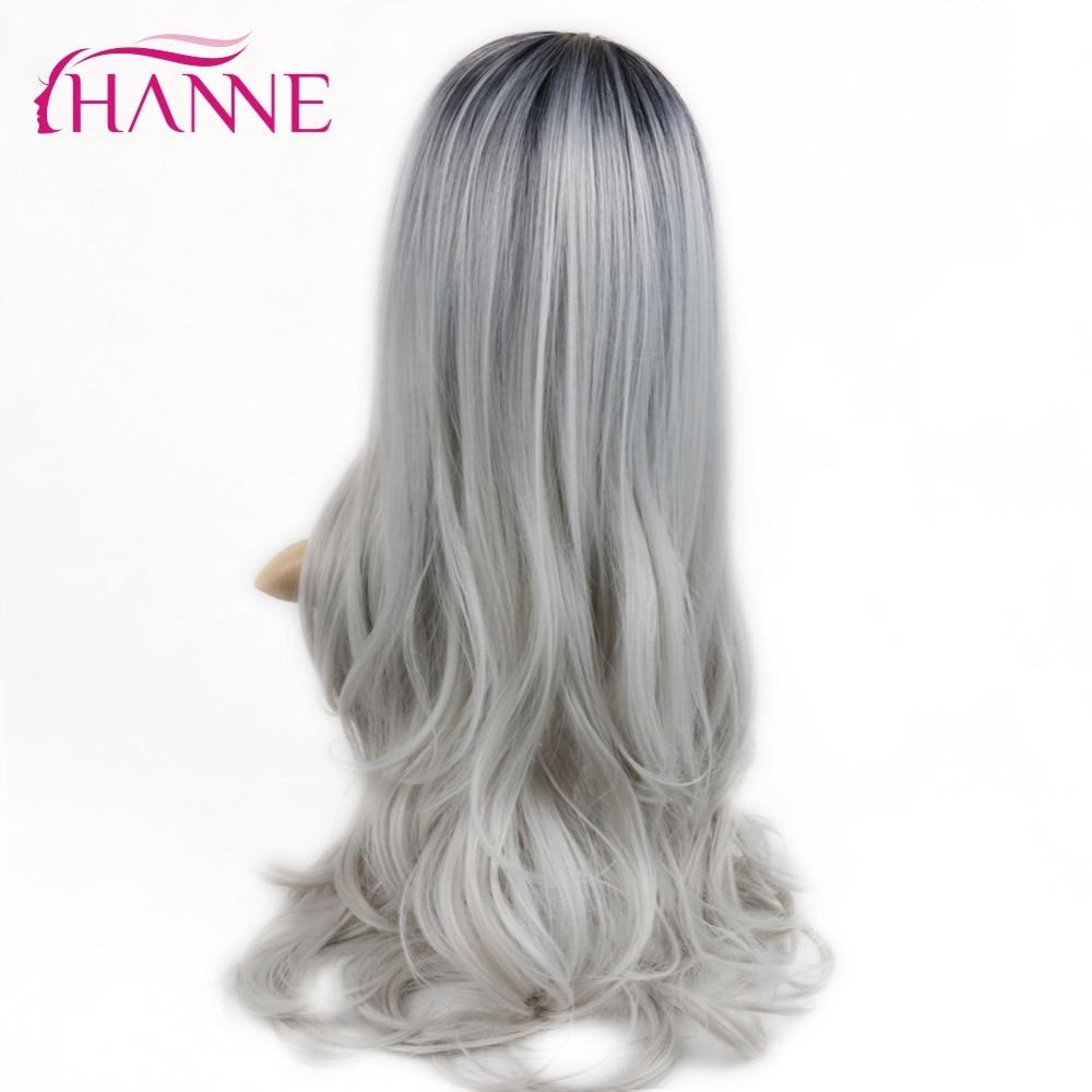 HANNE Svart till Ljusgrå 26inch Long Ombre Daywear eller Party Paryk - Syntetiskt hår - Foto 6