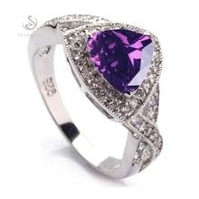 Classic Pink Fashion Silver  925  crystal  RING R380 sz#6 7 8 9