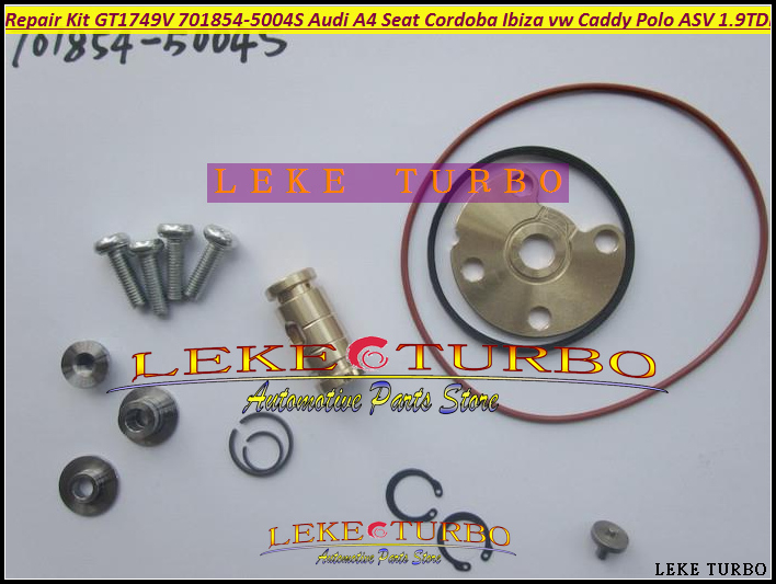 Free Ship TURBO Repair Kit rebuild GT1749V 701854-5004S 701854 Turbocharger For AUDI A4 Seat Ibiza II VW Caddy Polo ASV 1.9L TDI