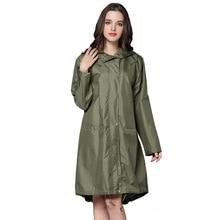 6 Цветов Водонепроницаемый Женщины Плащ С Капюшоном Долго Куртку От Дождя Дышащий Пальто Дождя Пончо Открытый Плащи