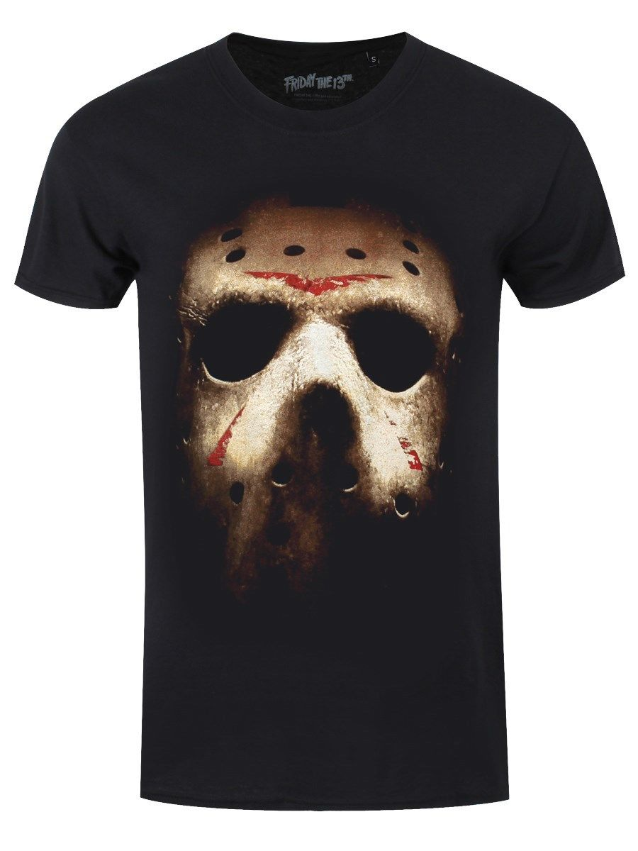 Friday the 13th Jasons Mask Mens Black T-shirt