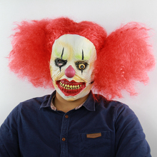 Latex Masker Party Mascaras Halloween Cosplay Horror Scary Clown Mask Red Hair Ghost Props Maske Realistic