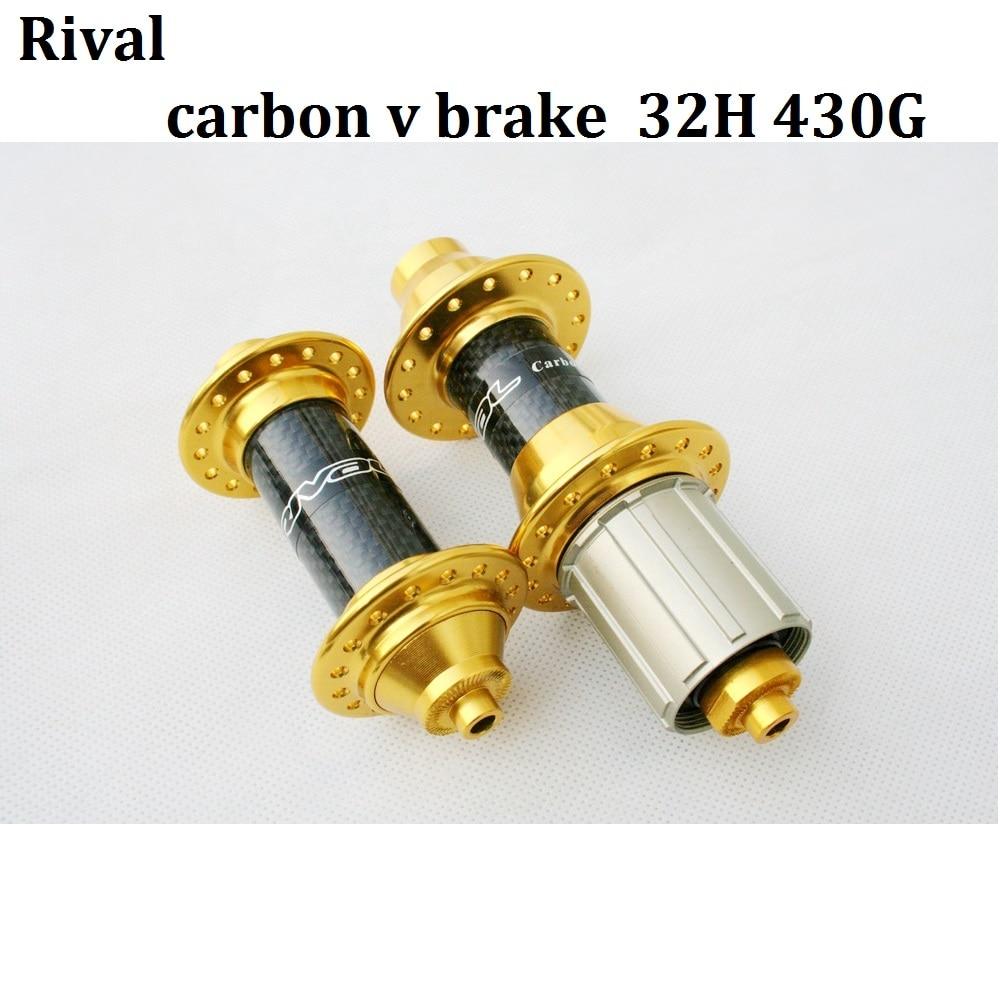 Bicycle hub 32H Gold MTB Rim V Brake hub Carbon Rival KFS700c/KRS707c sealed bearing Superlight 8 9 10speed cassette 430g