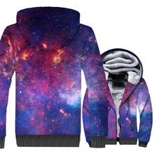 New Fashion Mens Clothing 2018 Star Nebula Print Sweatshirts Hip Hop Unisex Winter Thick Hoodies Harajuku 3D Space Galaxy Jacket