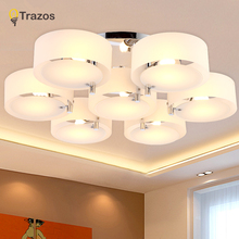 NEW 2015 Modern Ceiling Lights modern fashionable design dining room lamp pendente de teto cristal white shade acrylic lustre
