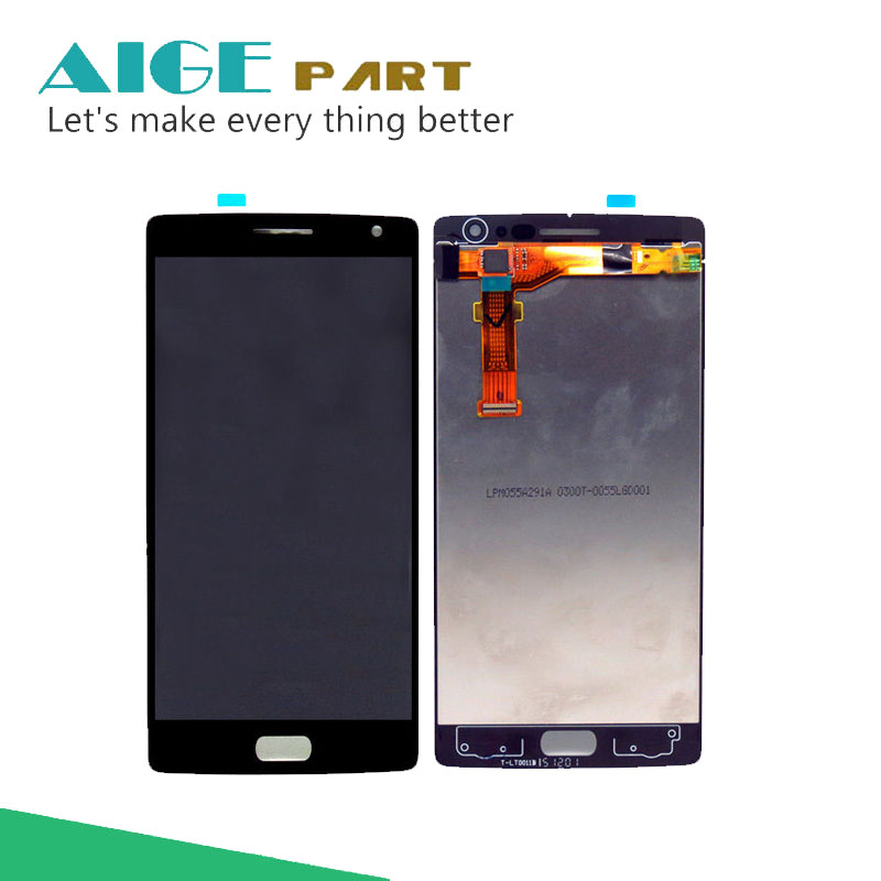 ФОТО For Oneplus Two LCD Display + Touch Screen  Assembly 5.5 Inch Replacement Cell Phone Parts With High Quality