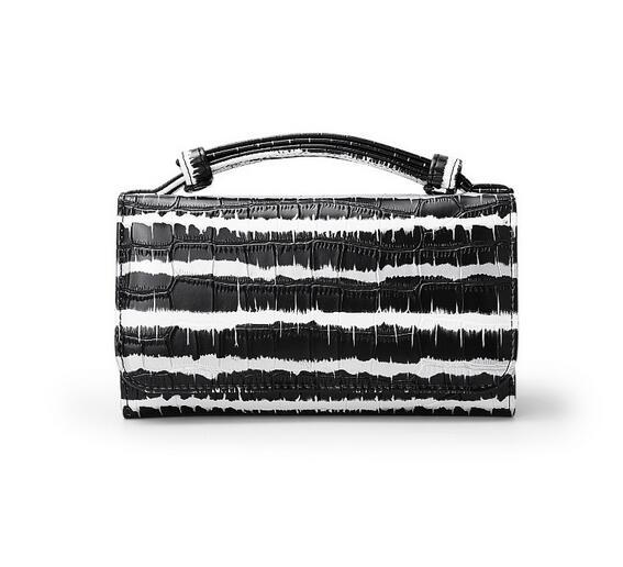 OZUKO новые сумки из натуральной кожи для женщин сумка Роскошные сумки на плечо для женщин дизайнер животных крокодил узор телефон клатч - Цвет: hei tiaowen