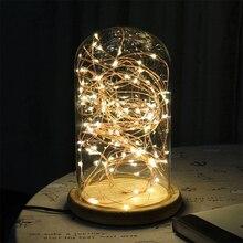 2 M/5 M zasilany z baterii drut miedziany led Fairy girlanda żarówkowa paski na choinkę wakacje dekoracje ślubne oświetlenie nocne