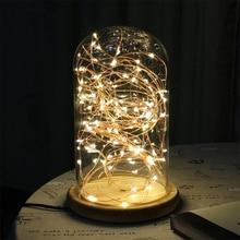 Fio de cobre de led para decoração de 2m/5m, alimentado por bateria, fio de cobre, fadas, árvore de natal, feriados, decoração de casamento iluminação noturna,