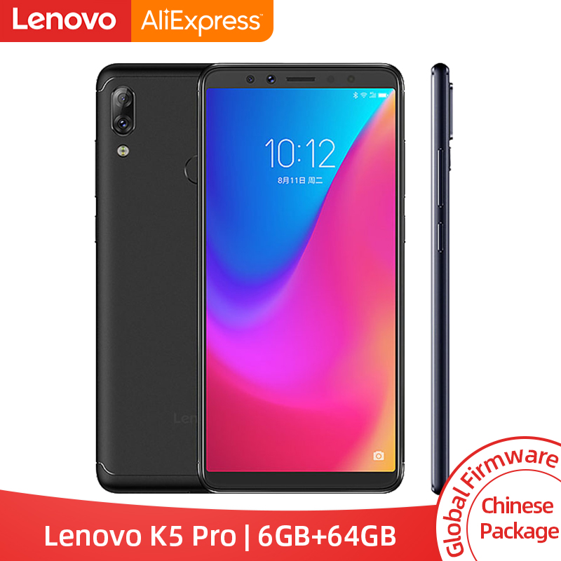 Global ROM Lenovo K5 Pro 6GB 64GB Snapdragon 636 Octa Core Smartphone Four Cameras 5 99