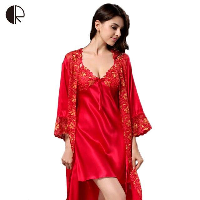 Новые сексуальные летом 100% натуральный шелк кружево пращные ночной рубашке высокое качество халат костюм женский соблазн пижамы AP312 пижамы