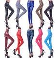 НОВОЕ ПРИБЫТИЕ бесплатная доставка по DHL!!! высокая талия PU кожаные леггинсы упругие ПУ брюки 18 цветов 5 размеры оптовая