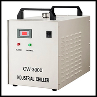 cw3000 chiller for cooling the co2 laser machine ,co2 laser engraver machine cool tool